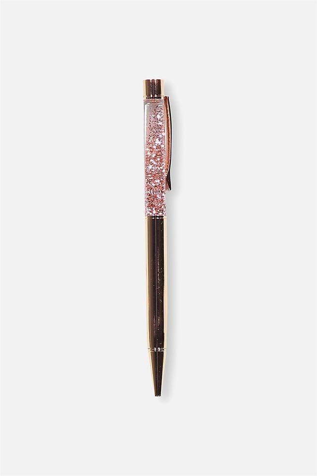 Sparkle Ballpoint Pen, ROSE GOLD