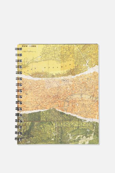 A5 Campus Notebook, SPLICED MAP