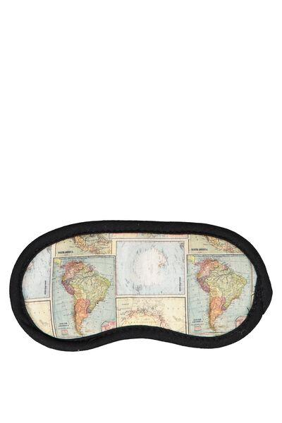 Easy On The Eye Sleep Mask, WORLD MAP PRINT