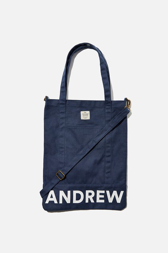 Personalised Book Tote, WASHED NAVY