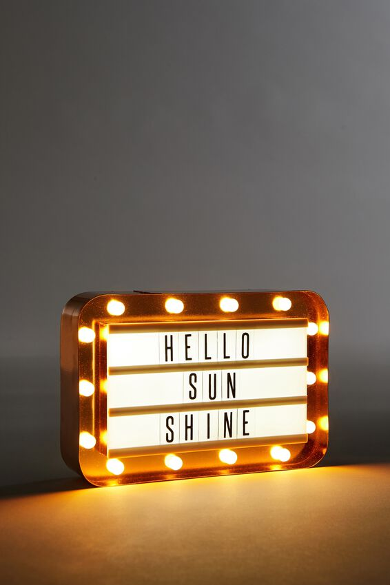 Marquee Light Box, ROSE GOLD
