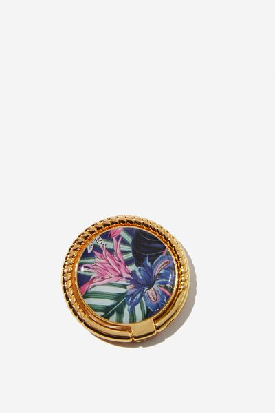 Metal Phone Ring, RESORT FLORAL