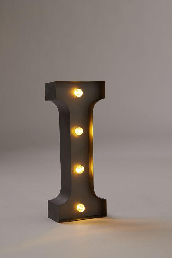 Midi Marquee Letter Lights 6.3inch, SILVER I