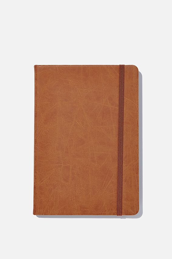 A5 Dot Buffalo Journal, MID TAN
