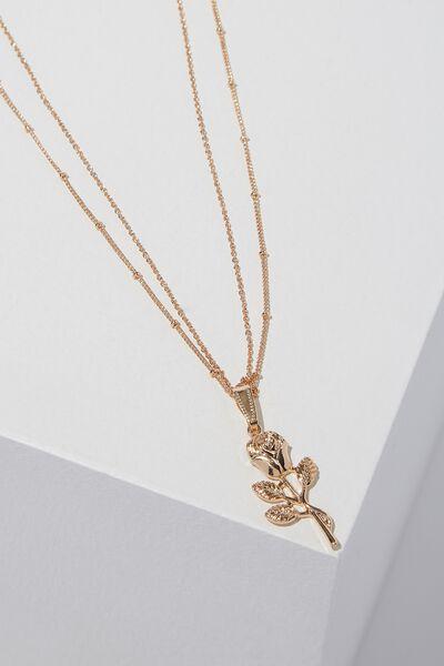Novelty Necklace, ROSE