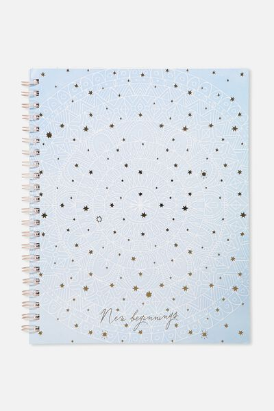 Large Campus Notebook - 240 Pages, MANDALA BEGINNINGS