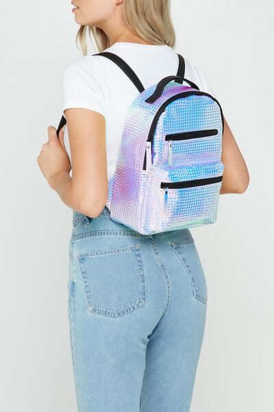 Mini Backpack, IRIDESCENT PRISM