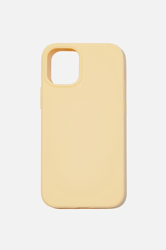 Recycled Phone Case Iphone 12 Mini, WASHED MUSTARD