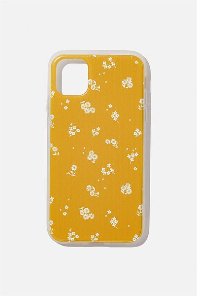 Protective Phone Case iPhone 11, DOTTIE FLORAL MUSTARD
