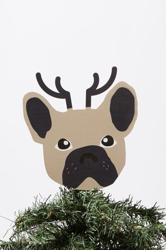 Christmas Tree Topper, REINDEER PUG