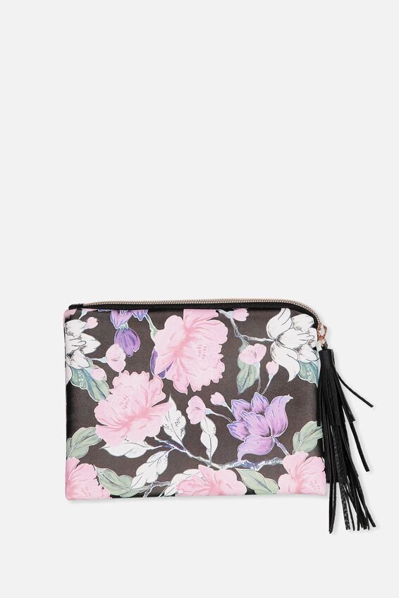 Luxe Pencil Case, LUSH FLORAL