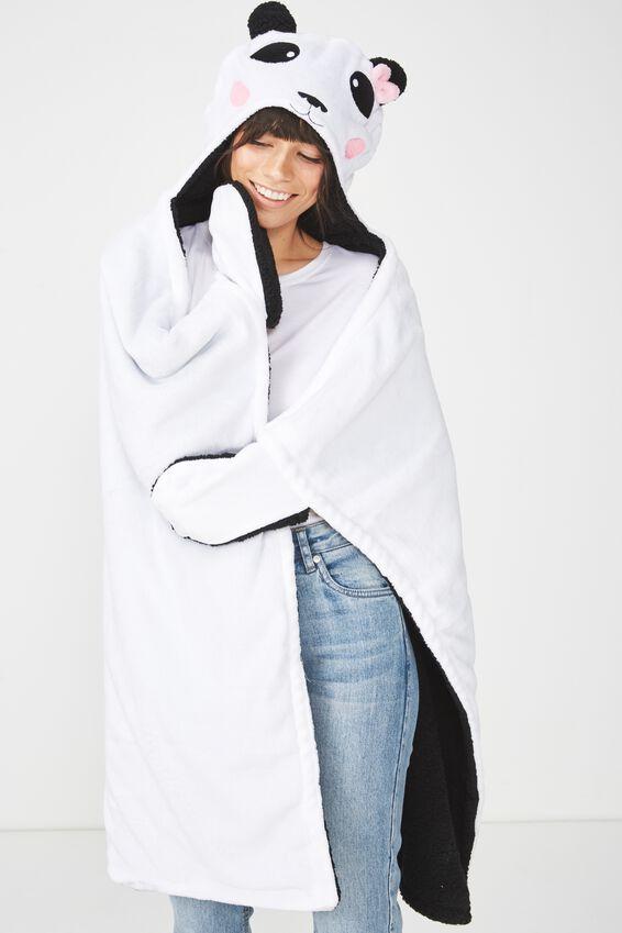 Novelty Hooded Blanket, PANDA