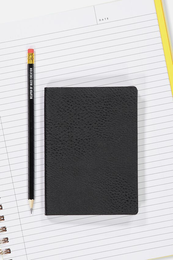 A6 Soft Cover Buffalo Journal - 176 Pages, BLACK