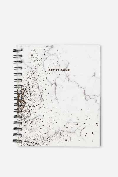 A5 Campus Notebook, WHITE MARBLE SPRAY