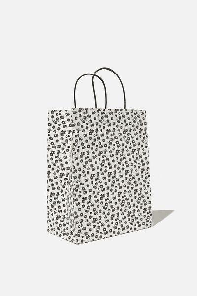 Get Stuffed Gift Bag - Medium, B&W DOLLY DAISY