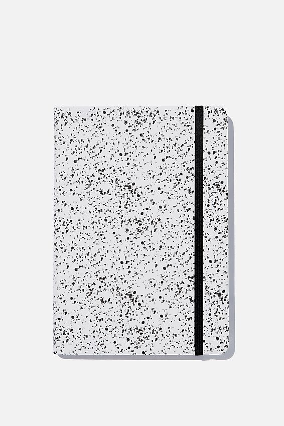 A5 Dot Buffalo Journal, WHITE SPLATTER