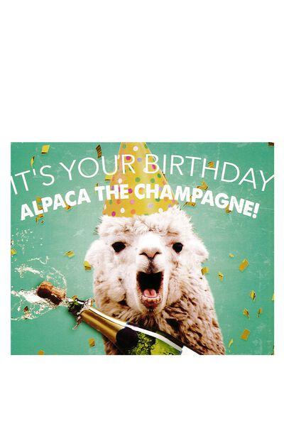 Funny Birthday Card, ALPACA BIRTHDAY!