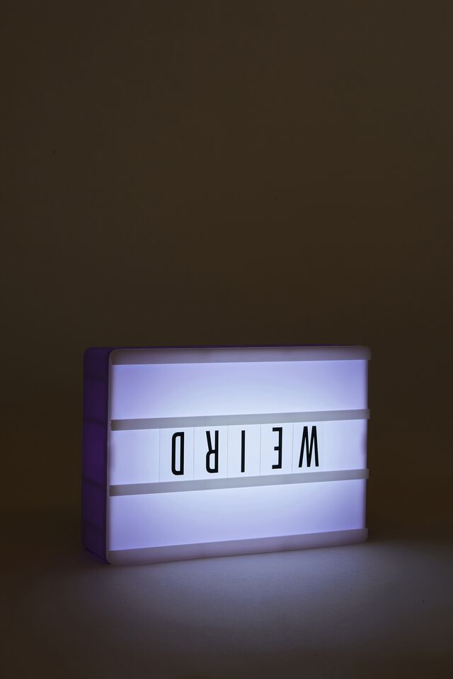 Micro Light Box, PALE LILAC RECTANGLE