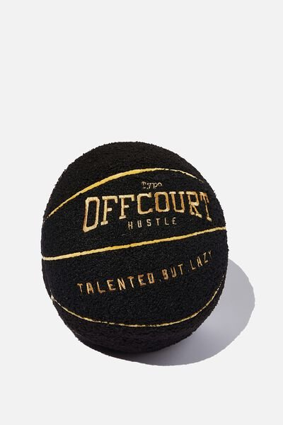 Boucle Get Cushy Cushion, BASKETBALL BLACK