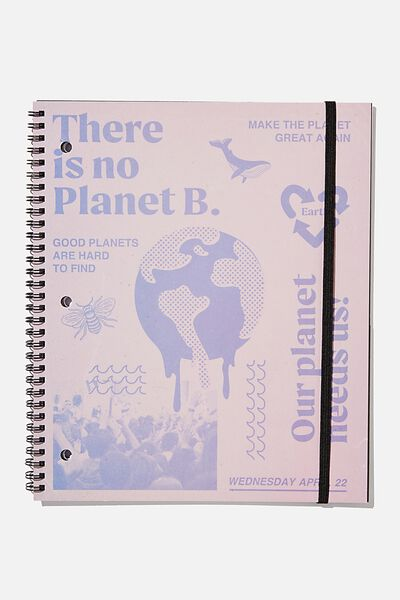 College Ruled Spinout Notebook V, OUR PLANET NEEDS US
