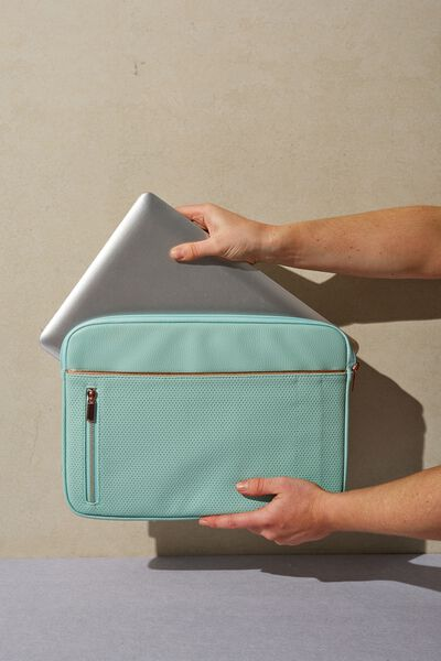 Take Charge 15 Inch Laptop Cover, MINT PERFORATED