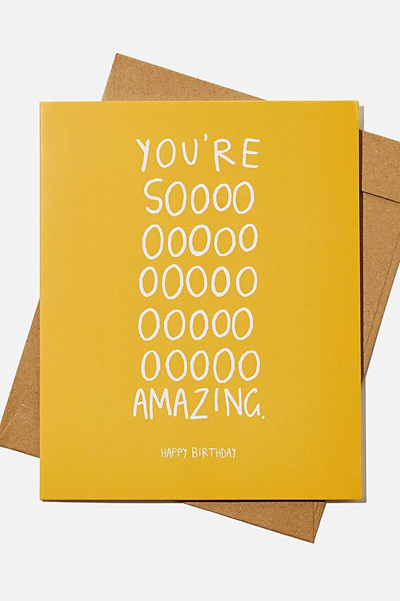 Nice Birthday Card, YOURE SO AMAZING MUSTARD