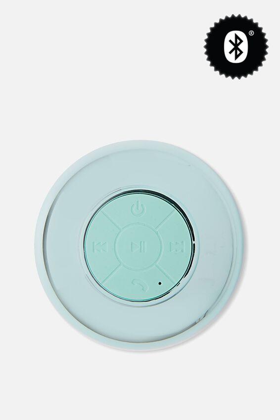 Waterproof Bluetooth Shower Speaker, SHINY BLUE