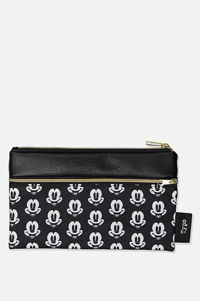 Archer Pencil Case, LCN DIS MK MICKEY HEAD YARDAGE