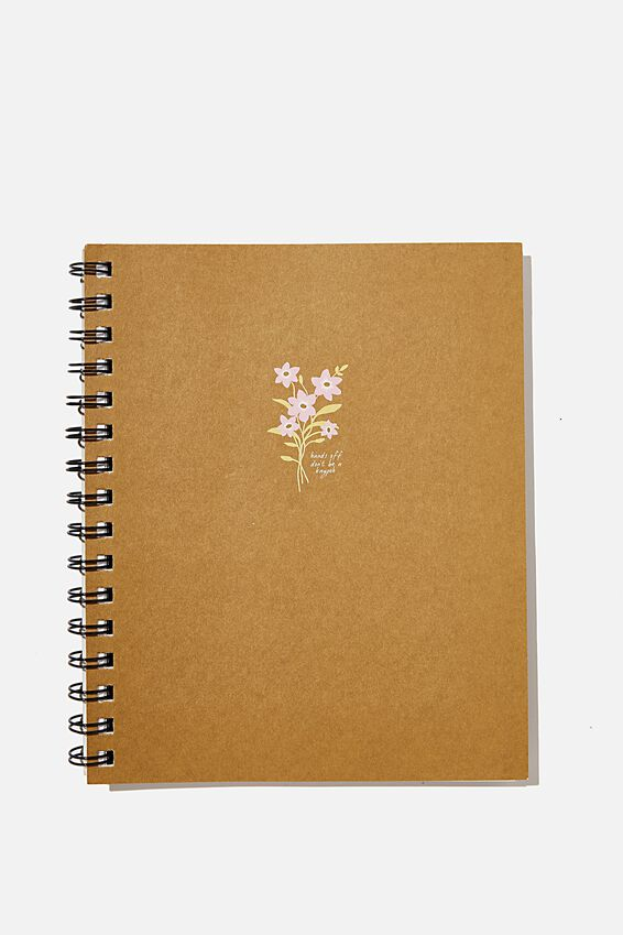 A5 Campus Notebook Recycled, RG ASIA KAYPOH FLORAL