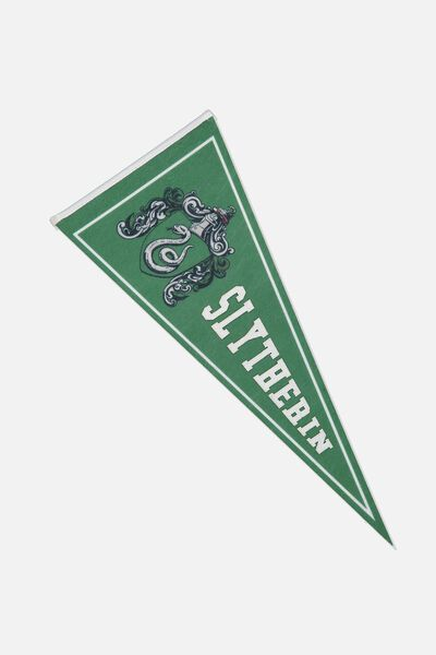 Pennant Wall Flag, LCN WB HP SLYTHERIN