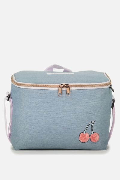 Cooler Lunch Bag, CHAMBRAY BADGES