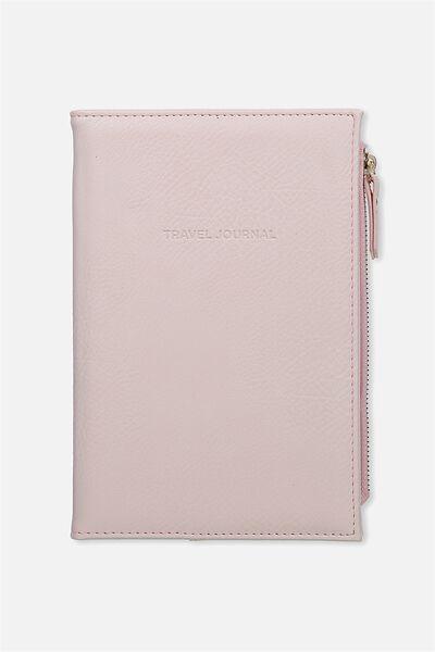 Travel Zip Journal, PINK QUOTE