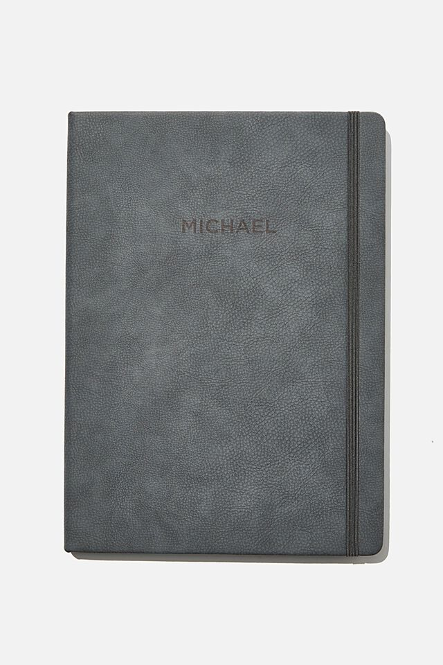 A4 Buffalo Journal Personalised, WELSH SLATE