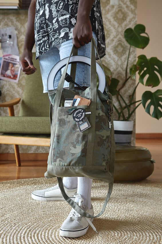 Book Tote Bag, CAMO
