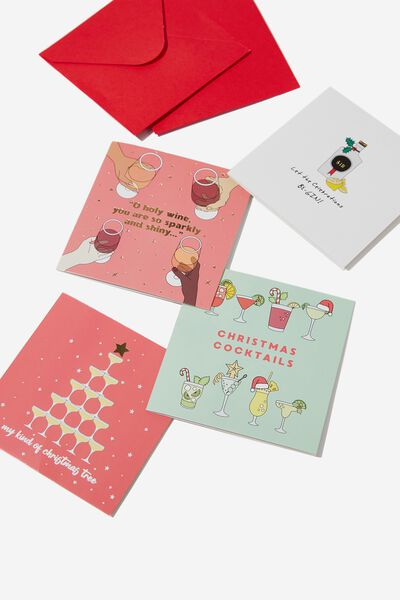 20 Christmas Card Pack 2019, ALCOHOL