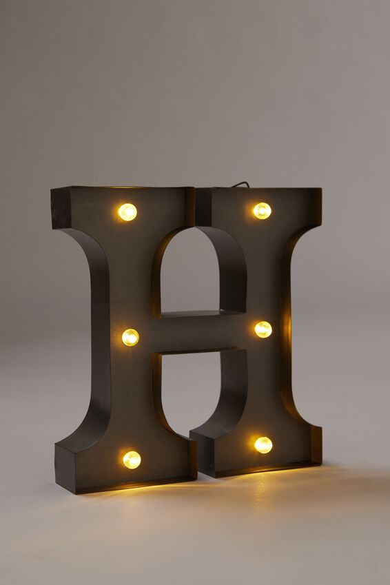 Midi Marquee Letter Lights 6.3inch, SILVER H