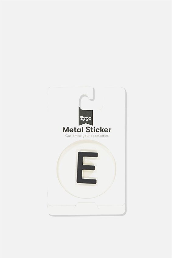 Metal Stickers, BLACK E