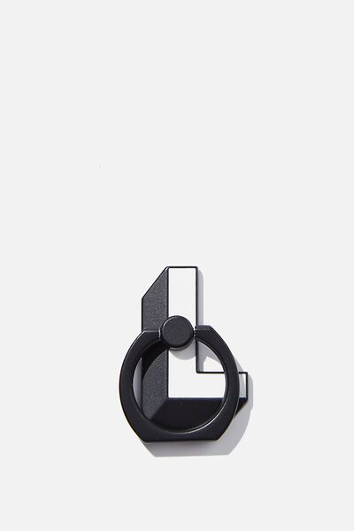 Metal Alpha Phone Ring, SHAPED L