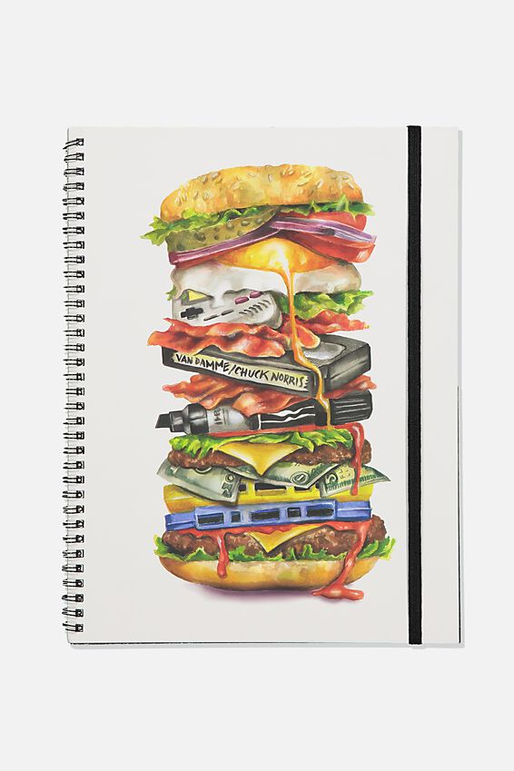 A4 Spinout Notebook Recycled, TBAR BURGER