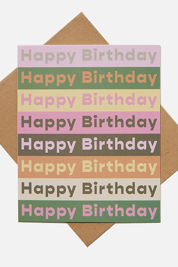 Nice Birthday Card, BIRTHDAY GUAVA BUTTER HERITAGE REPEAT
