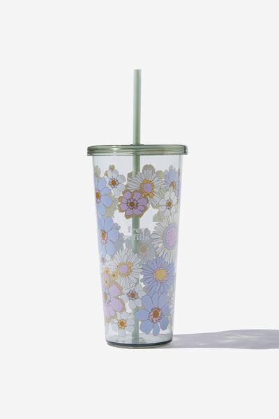 Sipper Smoothie Cup, SUNNIE FLORAL