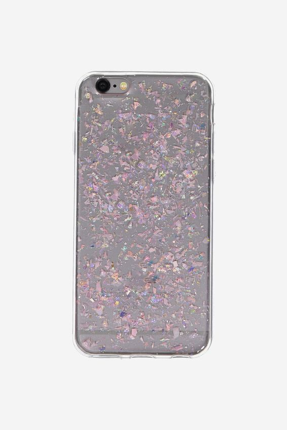 Transparent Phone Cover 6, PINK FOILING