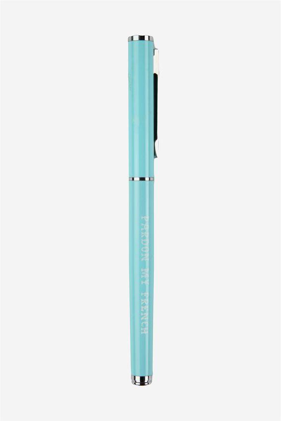 Little Pearla Pen, AQUA BLUE