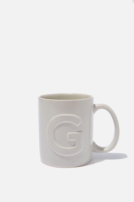 Alphabet Anytime Mug, SPECKLED G