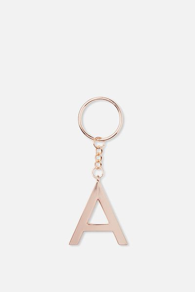 Alphabet Keyring, ROSE GOLD A
