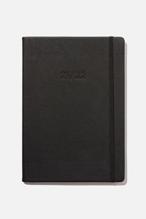 2021 22 A4 Weekly Buffalo Diary, JET BLACK