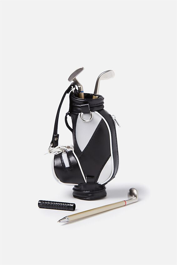 Desktop Pen Set, GOLF BAG AND CLUBS