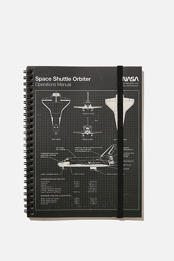 A5 Spinout Notebook Recycled, LCN NAS SPACE SHUTTLE DIAGRAM