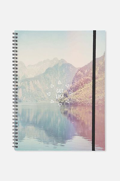 Large Spinout Notebook Usa 11X8, MOUNTAIN GET LOST