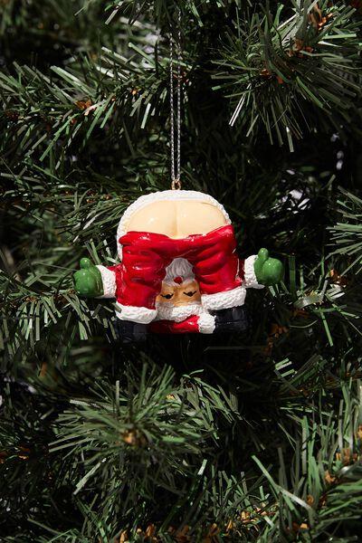 Resin Christmas Ornament, SANTA BUM LEGS!